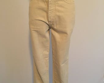Vintage yellow jeans