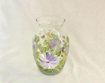 Free shipping lavender wild flower hand painted base