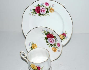 weekend sale Royal Crest china trio  3 piece china set  vintage china