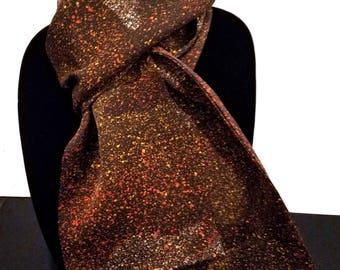 Kimono Scarf S8263 - brown speckle