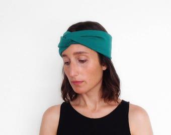 Set of 3 - turban headband, sport headband, yoga headband, hair wrap - The turban headband - handmade in solid colors of jersey fabric