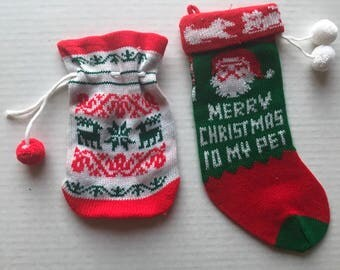 Vintage Christmas Pet Stocking