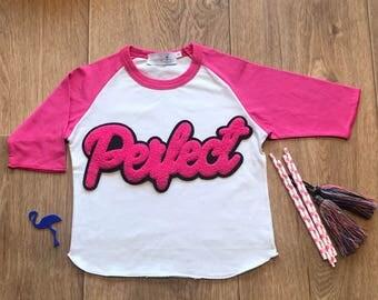 Girl Tshirt, Girl Raglan Shirt, Cool Girl Shirt, Kids Birthday Girl T-shirt,Perfect Tee, Perfect Gift, Christmas Gift, Happy Birthday,