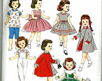 Butterick 5865 doll clothes pattern 18 inch Doll RETRO '56, New UNCUT