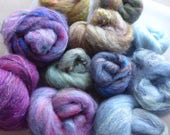 Hope Jacare - Approx 110g hand carded Batt bits - hand dyed fibres- felt making / creative textiles HCBT21