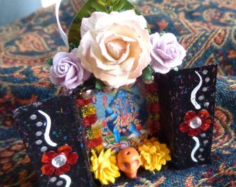 Kali Matchbox Shrine Ornament. Travel Altar.