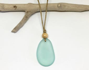 sea glass necklace, eco friendly beach jewelry
