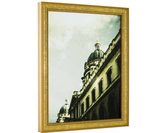 """Craig Frames, 8x10 Inch, Aged Gold Picture Frame, Stratton .75"""" Wide (314GD0810)"""