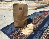 """Water Resistant """"Brown"""" Paper Lunch  Bag  