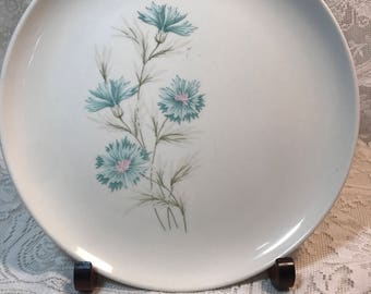 """Vintage """"Ever Yours"""" Boutonniere China Dinner Plate by Taylor Smith & Taylor Ovenproof Made in USA"""