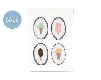 ON SALE! Ice Cream Dreams Print A4