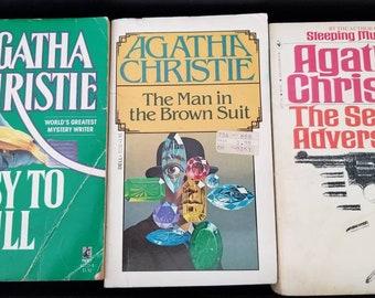 Set of 3 Vintage Agatha Christie Mysteries