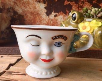"Bailey's  Irish Cream Winking ""Yum"" Mug 1996 Limited Edition"