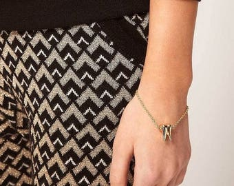 ON SALE Delicate chic tooth gold bracelet