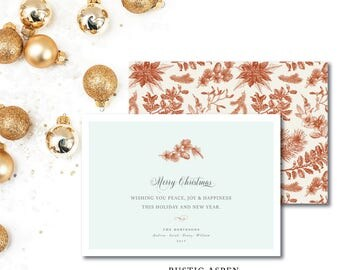 Rustic Aspen Christmas Card   Printed or Printable by DarbyCards