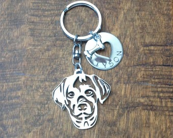 Labrador Retriever Head Custom Keychain Dog Lover