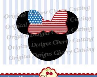 4th of July Minnie SVG DXF Independence Day Silhouette & Cricut Cut Files JULY11 -Personal and Commercial Use
