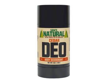 Sam's Natural - Cedar Natural Deodorant for Men - Gifts for Men - Natural, Vegan + Cruelty-Free