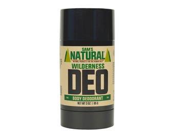 Sam's Natural - Wilderness Natural Deodorant for Men - Gifts for Men - Natural, Vegan + Cruelty-Free