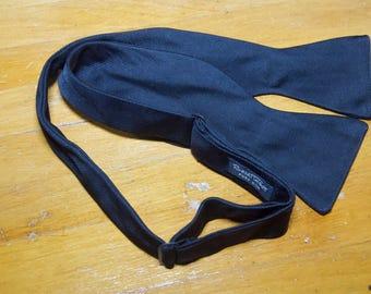 Vintage Robert Talbott Black Silk  Bow Tie