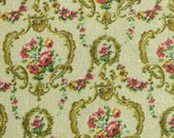Dollhouse Miniature Matching Fabric, Grande, Scale One Inch