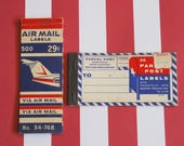 Vintage 1960s AIR MAIL & Parcel Mailing Labels (Two Books)