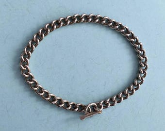 Silver Charm Bracelet 11g with T-bar fastening - Ready to Fill with Vintage Charms!