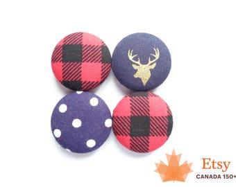 Lumberjack Magnets, Deer Magnets, Canada 150, Red Magnets, Navy Blue Magnets, Fridge Magnets, Gift for Student, Gift for Teacher