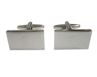 Silver Toned Etched Tennessee State Flag Cufflinks