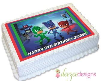 PJ Masks A4 Edible Icing Cake Topper - EI121A4