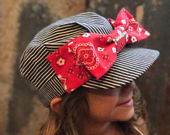 Train Conductor Hat, Railroad party, Train Hat, Girl Train conductor Hat, Personalized train hat, train hat, train birthday party, trains