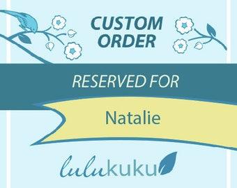 Custom Listing for Natalie- Headboard and Monogram