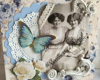 Faith Friendship Greeting~~~  The Sweetness of a Friend~~~ Victorian Style