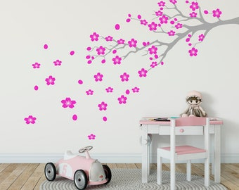 Cherry Blossom Wall Decal, Nursery Decoration, Cherry Blossom Branch, Girls  Room Decor,