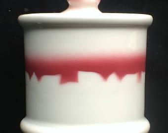 Jackson Diner Restaurant Hotel China Lancer Pattern Mustard/Condiment Jar in Excellent Condition