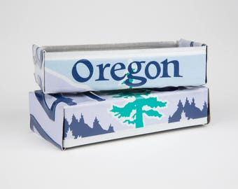 Oregon license plate box - father's day gift - gift for mom's dad's and grad's - teacher gift - graduation gift - graduation gift box