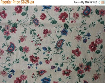 40% OFF Vintage Cotton Quilting Fabric Ikat Print Fabric Vintage Floral Fabric Quilting Fabric - 1 1/4 Yard - CFL1038