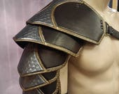 Leather Armor Ornate Sentinel 2  segmented shoulder IN STOCK