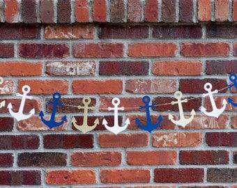 Anchor Garland, Nautical Garland, Anchor Banner