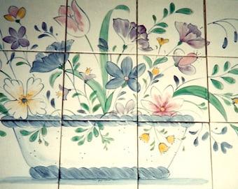 French Country Floral/Kitchen Backsplash Mural