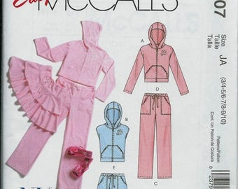 ON SALE Easy McCall's 4707 NY Ny Jacket, Vest, Skirt and Pants Pattern, Junior Sizes 3/4-5/6-7/8-9/10 Uncut