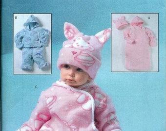ON SALE Butterick 4333 Infant's Bunting, Jacket, Pants, Jumpsuit, Hat & Mittens Pattern, S-Xl Uncut