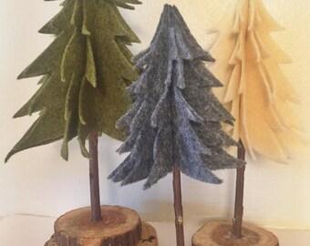 Felt Christmas Trees (Set of 3)
