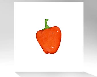 Archival Quality Print of Original Watercolor Painting / Pepper