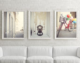 Paris photography, canvas art, Paris prints, Paris wall art, large wall art, Paris canvas, canvas wall art, bicycle art, Paris photos, art