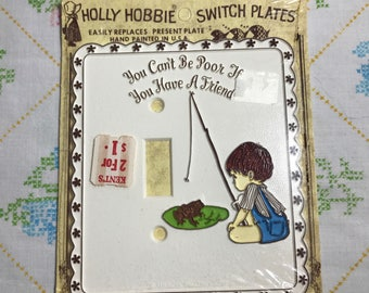 Vintage 1970s Holly Hobbie Switch Plate