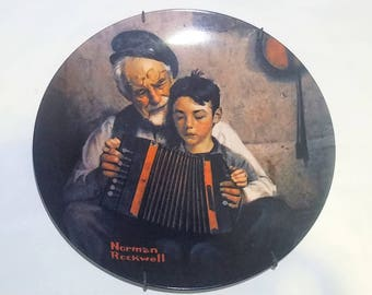 The Music Maker Norman Rockwell Vintage Collectible Plate