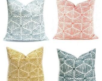 15% Off Sale Decorative Pillow Cover, Modern pillow, Blue Pillow , Golden Yellow Pillow,  Navy Pillow, Geometric Pillow, Designer pillow, Fr