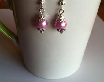 Mauve Pearl Earrings