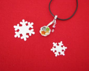 Necklace little ref 120 Christmas cookies plate